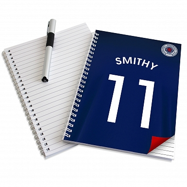 Personalised Rangers A5 Notebook