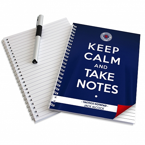 Personalised Rangers Keep Calm A5 Notebook