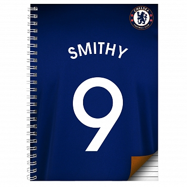 Personalised Chelsea A4 Notebook