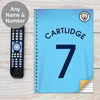 Personalised Manchester City A4 Notebook