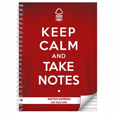 Personalised Nottingham Forest Keep Calm A4 Notebook