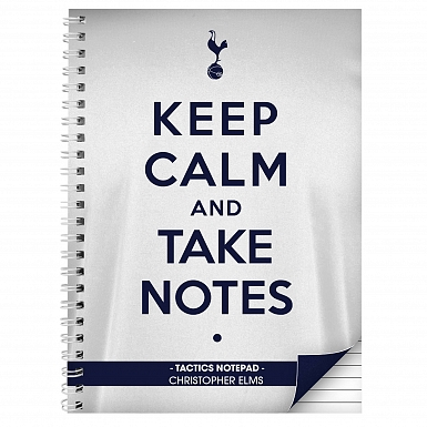 Personalised Tottenham Hotspur Keep Calm A4 Notebook