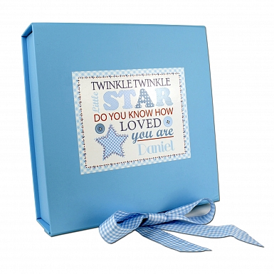 Personalised Twinkle Boys Blue Gift Box
