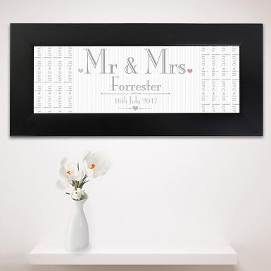 Personalised Decorative Wedding Mr & Mrs Black Name Frame UK [United Kingdom]