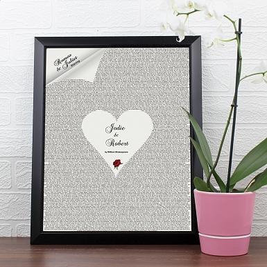 Personalised Romeo & Juliet Poster Frame UK [United Kingdom]
