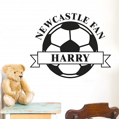 Personalised White Football Wall Art