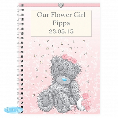 Personalised Me To You Girls Wedding A5 Notebook