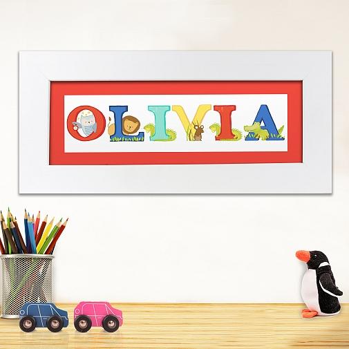 Personalised Animal Alphabet Name Frame
