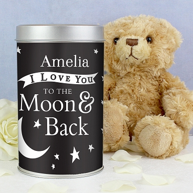 To the Moon and Back Teddy in a Tin