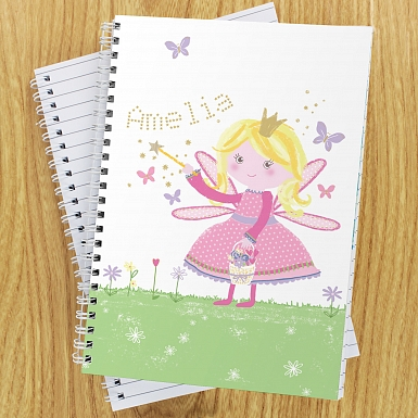 Personalised Garden Fairy A5 Notebook