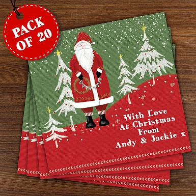 Personalised Father Christmas Pack of  20 Christmas Cards