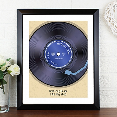 Personalised Retro Vinyl Black Poster Frame UK [United Kingdom]