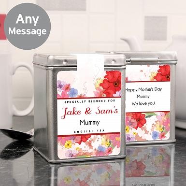 Personalised Blossom Tea & Tin