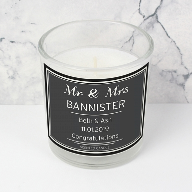 Personalised Classic Scented Jar Candle