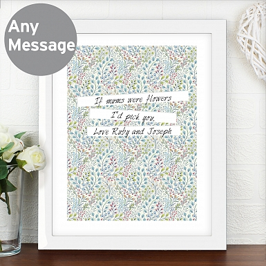 Personalised Botanical Poster Frame