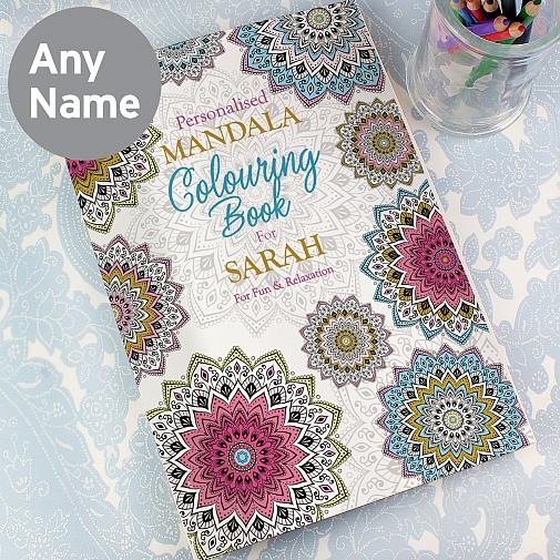Personalised Mandala Colouring Book