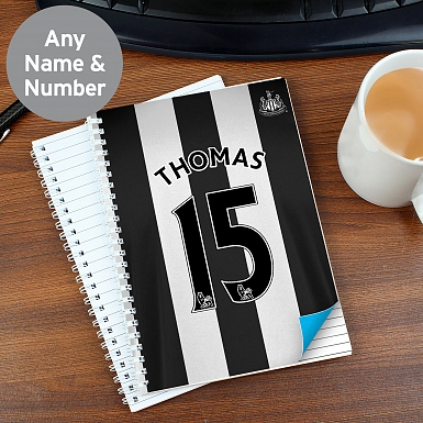 Personalised Newcastle United A5 Notebook