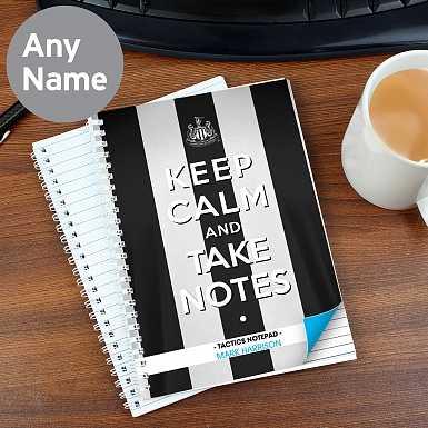 Personalised Newcastle United Keep Calm A5 Notebook