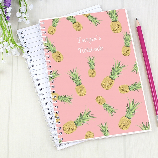 Personalised Pineapple A5 Notebook