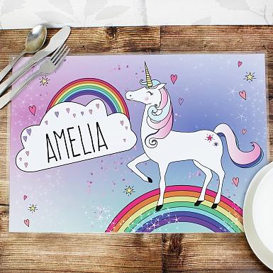 Personalised Unicorn Placemat