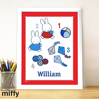Personalised Miffy Lets Count Large Name Frame