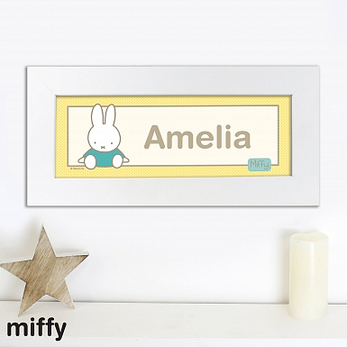 Personalised Miffy Sunshine Name Frame