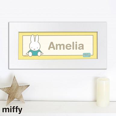 Personalised Miffy Sunshine Name Frame