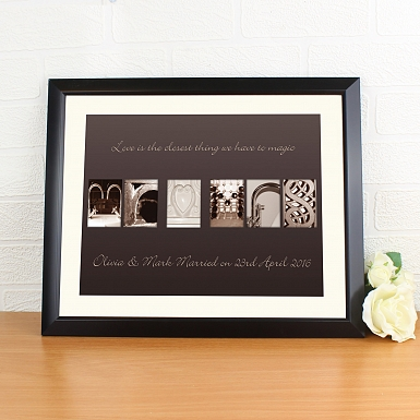 Personalised Mr & Mrs Affection Art Poster Frame