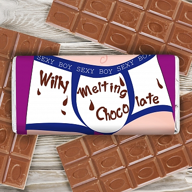 Personalised Willy Melting Milk Chocolates Bar