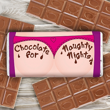 Personalised Naughty Nights Milk Chocolates Bar
