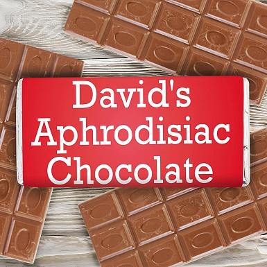 Personalised Aphrodisiac Milk Chocolates Bar