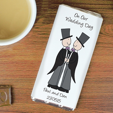 Personalised Cartoon Male Civil Milk Chocolates Bar