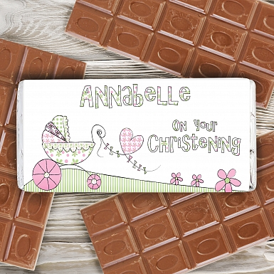 Personalised Whimsical Pram Milk Chocolates Bar