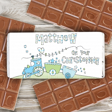 Personalised Whimsical Train Milk Chocolates Bar