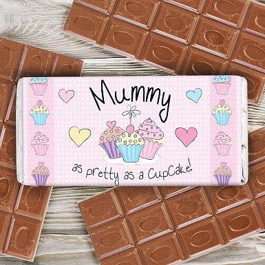 Personalised Cupcake Milk Chocolates Bar