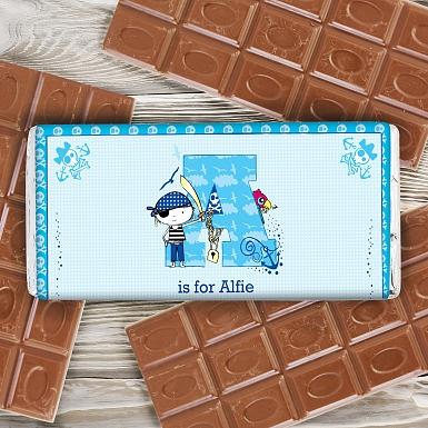 Personalised Pirate Milk Chocolates Bar