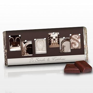 Personalised Affection Art Mr & Mrs Milk Chocolates Bar