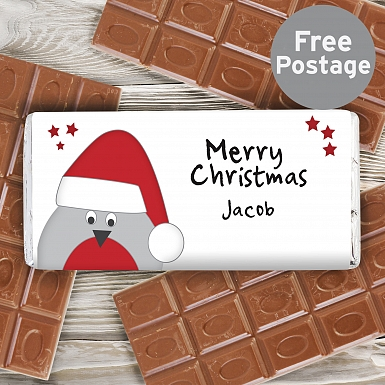 Personalised Robin Milk Chocolates Bar
