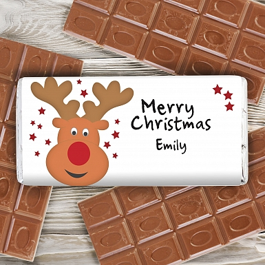 Personalised Reindeer Milk Chocolates Bar