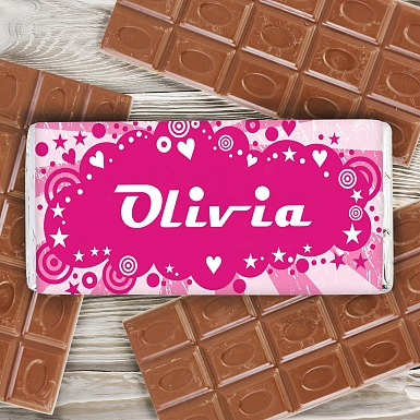 Personalised Retro Milk Chocolates Bar