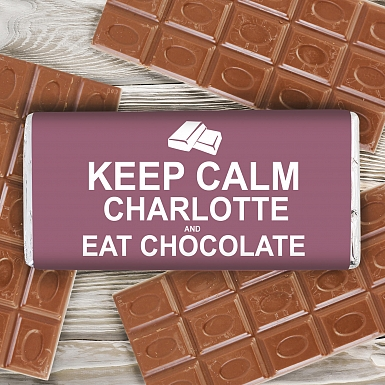 Personalised Keep Calm Eat Chocolates Milk Chocolates Bar