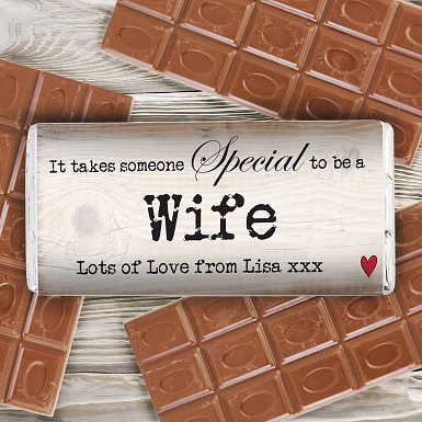 Personalised Someone Special Milk Chocolates Bar