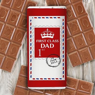 Personalised 1st Class Milk Chocolates Bar