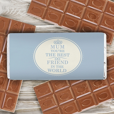 Personalised The Best in the World Milk Chocolates Bar