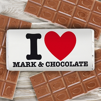 Personalised I HEART Milk Chocolates Bar