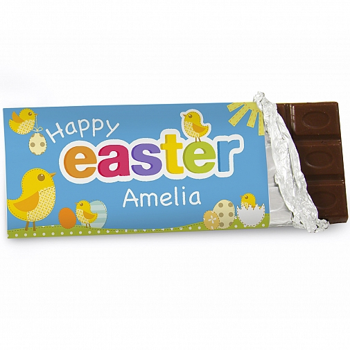 Personalised Easter chick Milk Chocolates Bar