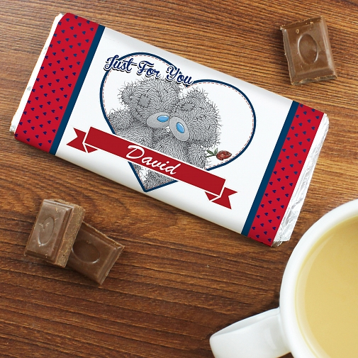 Personalised Me to You Couple Milk Chocolates Bar