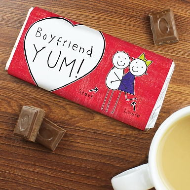 Personalised Purple Ronnie Couples Milk Chocolates Bar