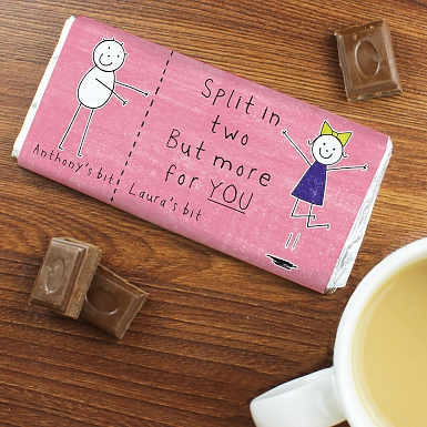 Personalised Purple Ronnie Her Half... Milk Chocolates Bar