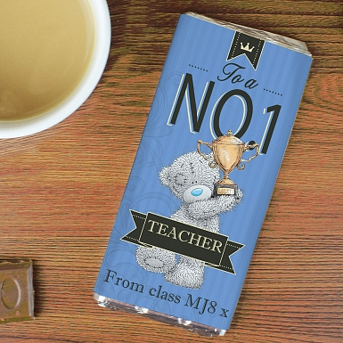 Personalised Me to You No 1 Milk Chocolates Bar For Him
